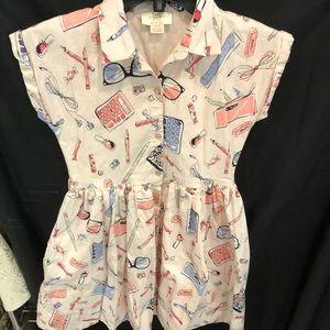 Girls school print dress